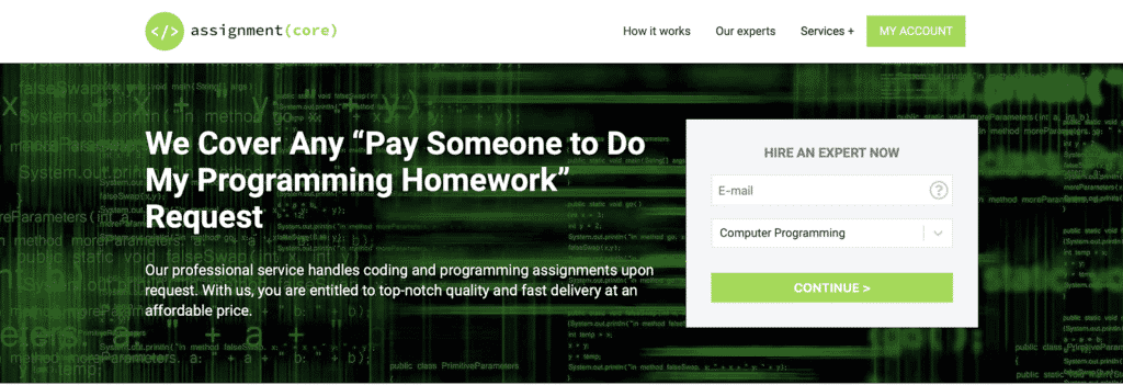 AssignmentCore Review - Top Service for Programming Homework 7