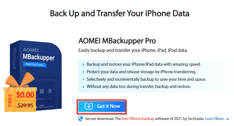 World Backup Day 2021 Giveaway: AOMEI Backup Tools - I Have A PC